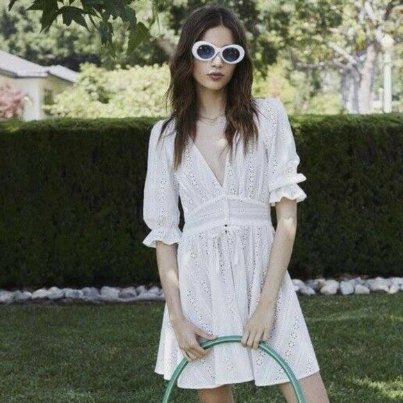 For Love And Lemons Dresses & Skirts - For Love And Lemons - White Eyelet Dress - Medium